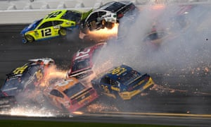 Crashes were a big feature of the day in Florida