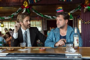 70s sleuths ... Ryan Gosling and Russell Crowe in The Nice Guys.
