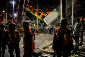 Mexico City's mayor, Claudia Sheinbaum, said on Twitter that a support beam had given way, causing the overpass to collapse