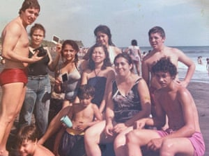 Escobar Mejia, bottom right, in a family photo.