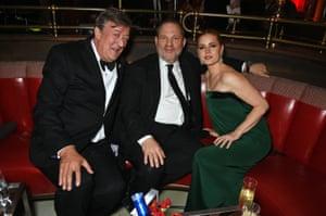 Stephen Fry, Harvey Weinstein and Amy Adams