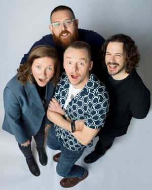 Clockwise from left: Jessica Hynes; Nick Frost; Edgar Wright; Simon Pegg,