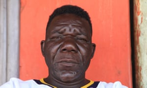 Zimbabwe's three-times Mr Ugly winner William Masvinu poses for a photo in Harare.