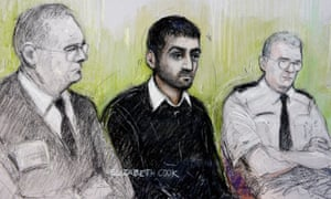 Court artist sketch of Erol Incedal on trial in 2014.