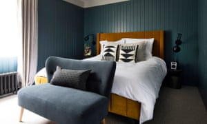 Double bedroom at Amano, a restaurant and B&B in West Malling, Kent, UK.