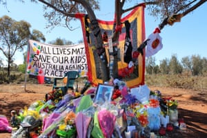 A memorial at the Gribble Creek Reserve to 14-year-old Elijah Doughty.