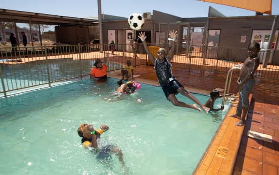 Cool customers: children in the Mutijulu pool.