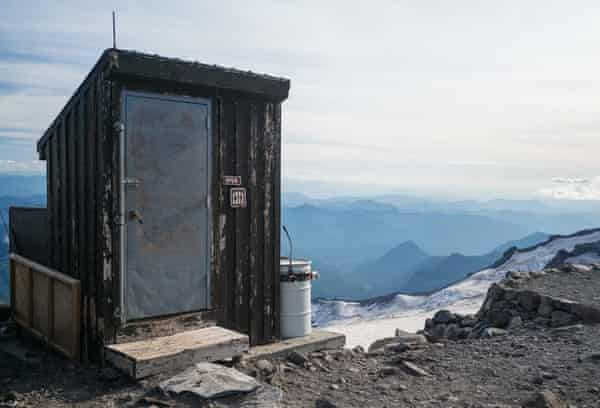 A backcountry toilet at Camp Muir, a climbing destination at 10,000ft on Washington's Mt Rainier.
