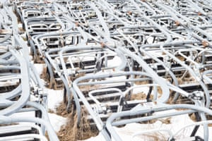Discarded chair lifts in Recoaro Mille