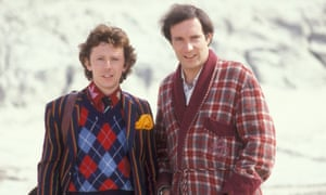 David Dixon and Simon Jones, as Ford Prefect and Arthur Dent, in The Hitchhiker's Guide to the Galaxy.