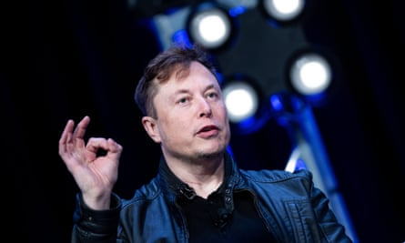 Elon Musk speaking at an event in March