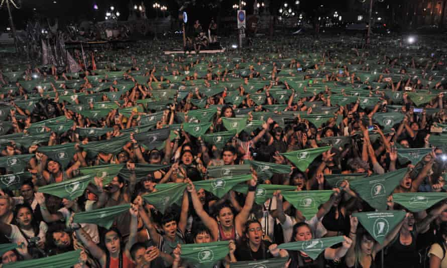 Thousands of women rallied in Buenos Aires last month to call for abortion to be legalised