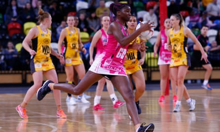 Ama Agbeze's netball comeback lasted just four matches before the season was cancelled. She has since found work commentating in New Zealand.