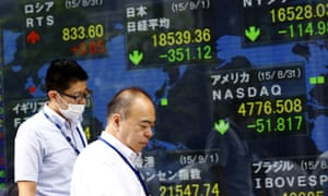 Asian shares fell Tuesday as gloomy manufacturing data from China and weak investment figures in Japan augured further uncertainty for investors.