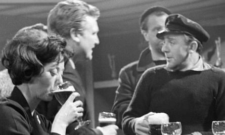 Glyn Houston, right, talking to his brother, Donald, also a respected actor, in ITV's Mystery Theatre: The Primitives, 1964.