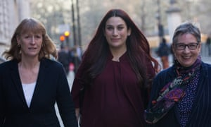 Joan Ryan (left) with fellow TIG MPs Luciana Berger and Ann Coffey.