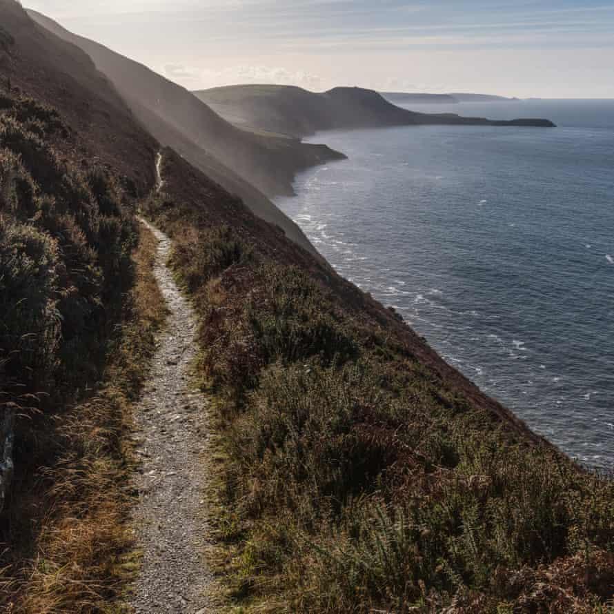 Ynys Lochtyn from the coast path, Ceredigion.