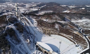 Alpensia Ski Jumping Center venue for the 2018 PyeongChang Winter Olympic, east of Seoul, South Korea.