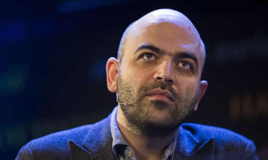 Roberto Saviano, Italian investigative journalist and author of Gomorrah and ZeroZeroZero, at the Hay festival.