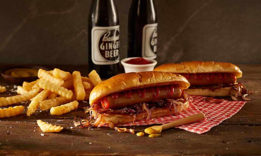 Fry's vegan artisan smoked hotdog.