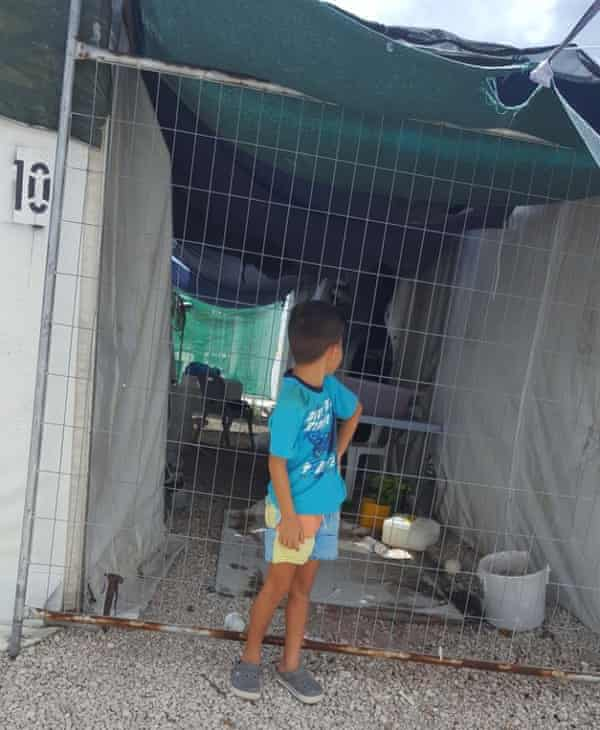 Seven-year-old Ahoora has lived in the Australian-run regional processing centre for refugees on Nauru since he was three.