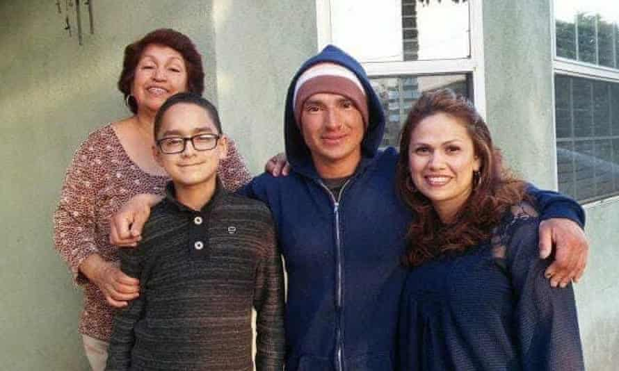 Daniel Rivera, second from right, with his family, including Silvia Imelda Rivera, at left.