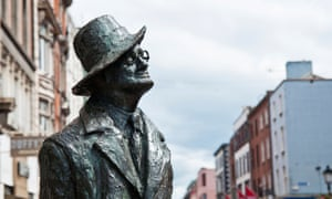 It made Dublin the centre of the known universe … a statue of Joyce on Earl Street.