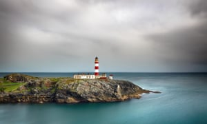 Eilean Glas lighthouse from the island of Scalpay.