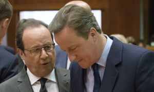 President François Hollande and David Cameron at an EU summit after the Brexit vote