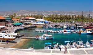 Paphos town and harbour.