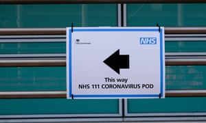 A sign at University College hospital in London, March 2020.