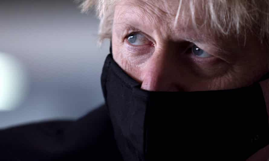 Boris Johnson in a London school this week.