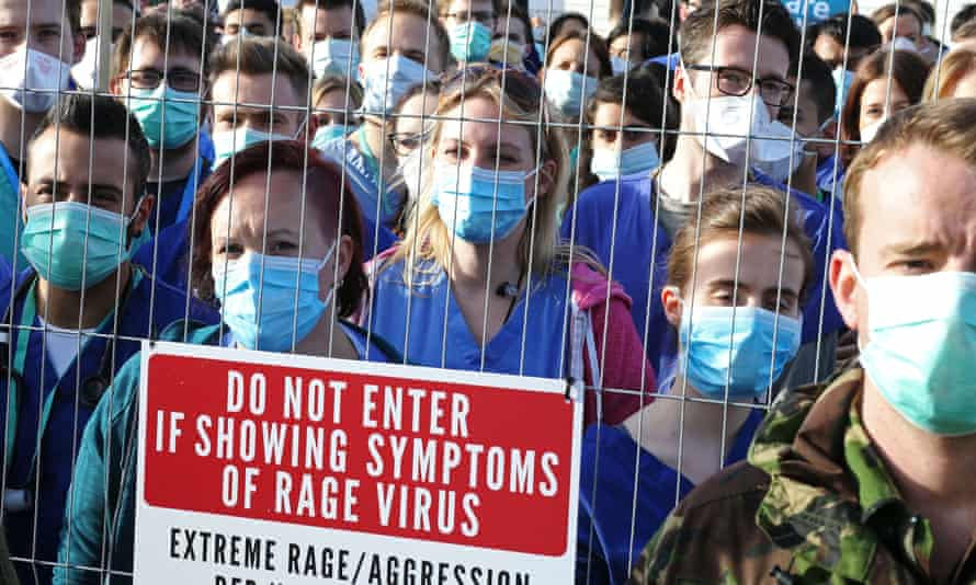 Junior doctors protest in London during April.