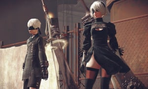 Lead character 2B and her companion 9S find an Earth devastated by war and now populated entirely by aimless robots