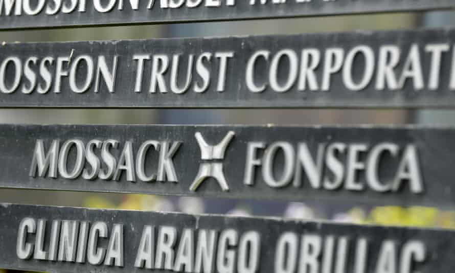 Sign for Panamanian law firm Mossack Fonseca