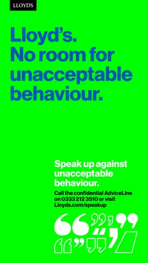 Lloyd's Speak up campaign