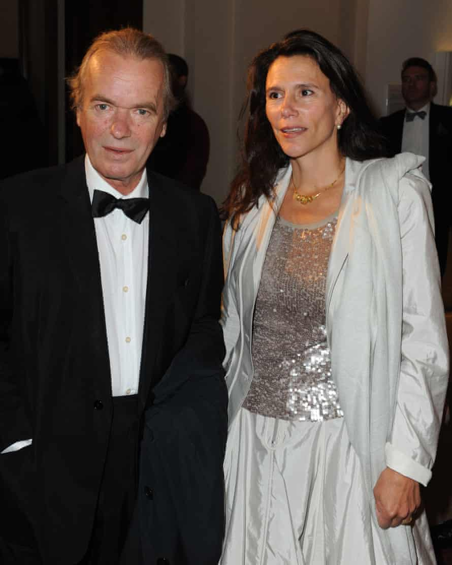 Martin Amis with wife Isabel Fonseca.