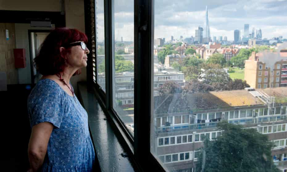 Aysen Dennis's favourite feature of her home on the Aylesbury estate – the view from the eighth floor.