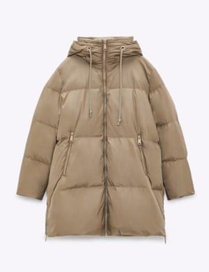 Part of Zara'a Join Life collection, this puffer is made with at least 25% recycled polyamide and 100% recycled down and feathers. £89.99, zara.com