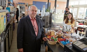 Alberto D'Auria in his Parliament Hill Cafe