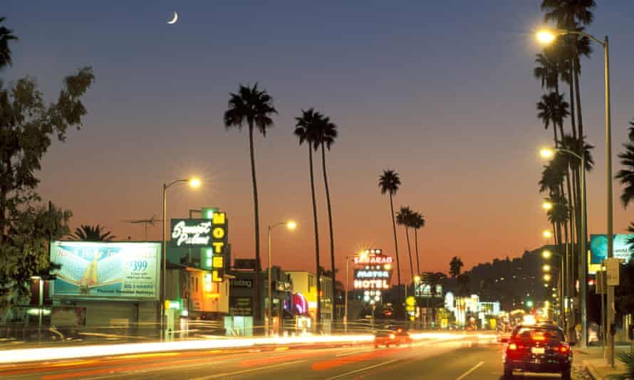 Sunset Boulevard in Hollywood, Los Angeles. Some of the old stereotypes about the city are changing, making room for new kinds of residents.