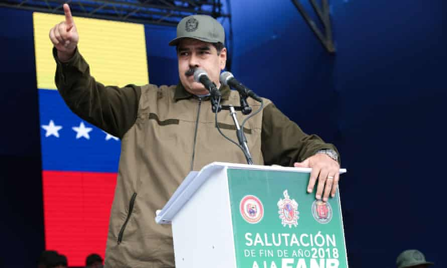 Nicolás Maduro in Caracas, Venezuela on 28 December 2018.