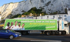 The Paddy Power lorry in Dover