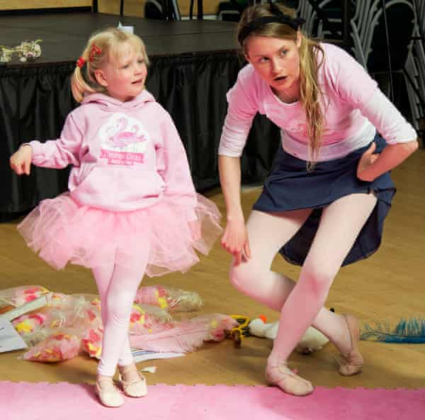 Sophie, five, learning how to dance