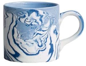 Marbled ceramic small coffee cup
