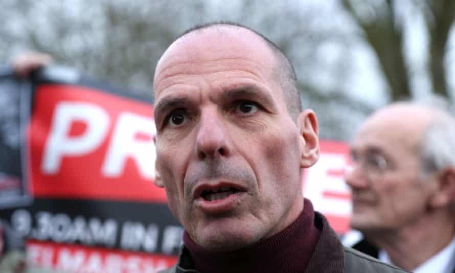 Yanis Varoufakis asked people not to even visit Amazon's website on Friday.