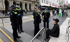 Victoria police officers in Melbourne