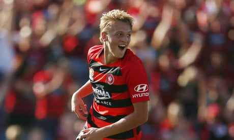 Lachlan Scott opens A-League account in Wanderers' win over Newcastle