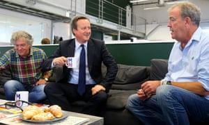 David Cameron meets Jeremy Clarkson and James May