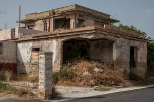 The dilapidated house of a Camorra mobster in Castel Volturno.